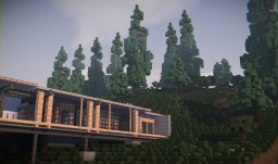 Modern Cliffside Home Minecraft Map & Project