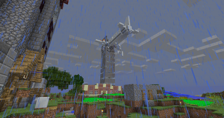 Another view of the 911 tower with cameronridge95s house on the left and Subway the restaurant at the bottom of the tower.  Also, its parkour.