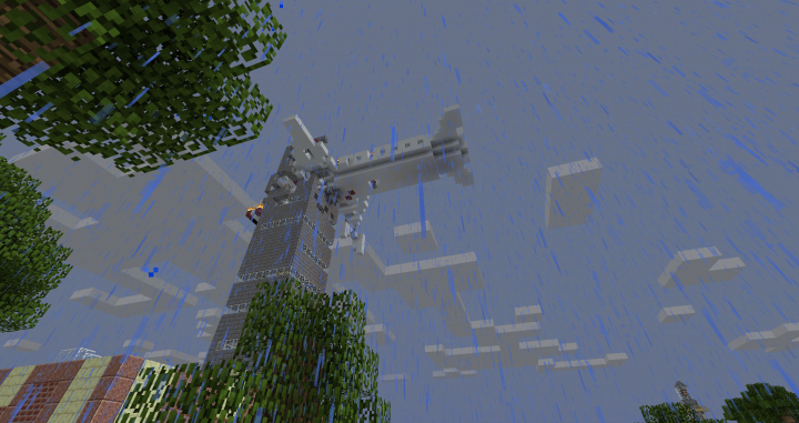 911 with a subway restaurant at the bottom of the tower.  Built by cameronridge95.