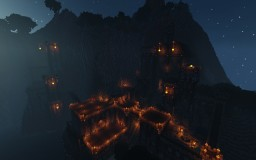 Castle Burain, the Mountain Fortress. Minecraft Map & Project
