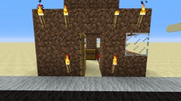 Redstone dirt hut Minecraft Project