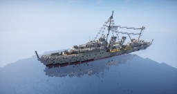 HMCS Haida Destroyer (early) Minecraft Map & Project