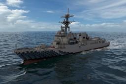 Arleigh-Burke class Destroyer (Flight IIA) Minecraft Project
