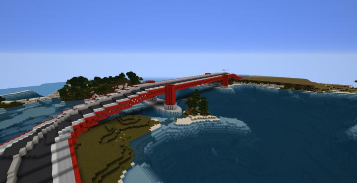 Golden Gate Bridge Own Design Minecraft Project