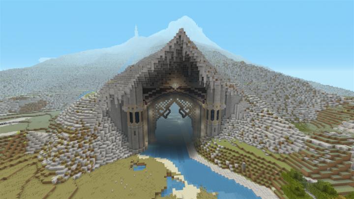 My Custom Dwarven Mountain As Seen On Minecraftnetculture