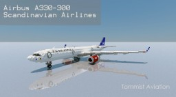 Airbus A330-300 Scandinavian Airlines [New model][+Download] Minecraft Map & Project