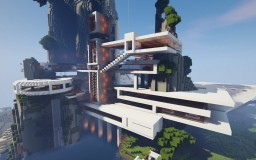 Ultra-Modern Mountain Mansion | Download Minecraft