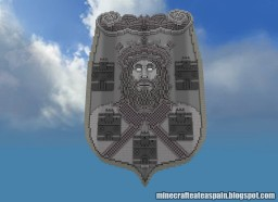 Replica Minecraft of the Shield of the City of Burgos, Spain. Minecraft Project