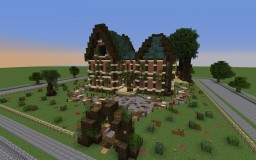 La picket fence villa Minecraft