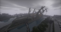 Gliwice (Poland) real industrial Docks/Harbour Minecraft Map & Project