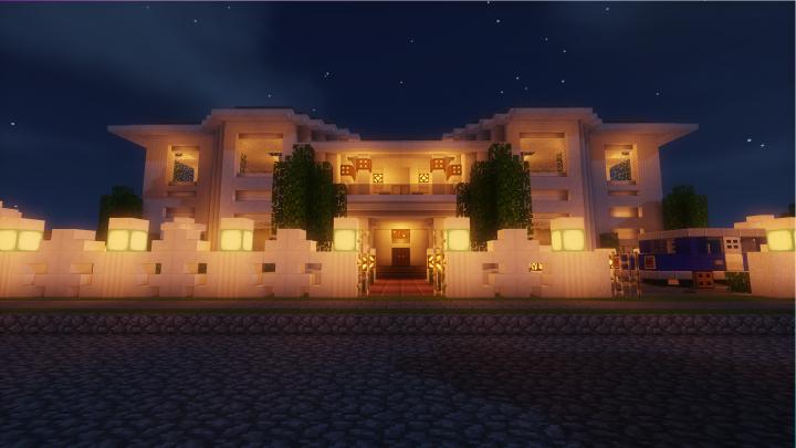 Villa One by night