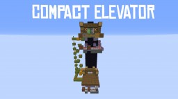 Compact Elevator  |  without commandblocks! Minecraft Project