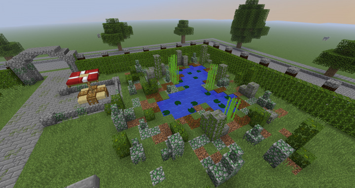 Ruins around Pond