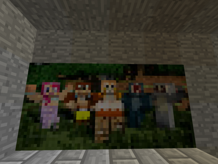 Stampy w friends painting.