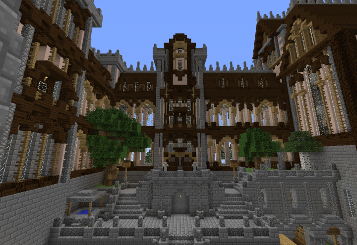 main courtyard - without texture pack for comparison