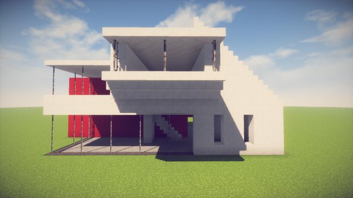 Easy Modern House - Easy Minecraft House Tutorial ...