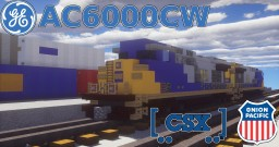 [1.5:1 Scale] GE AC6000CW CSX and UP diesel-electric locomotive Minecraft Project