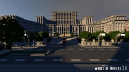 Romanian Palace of the Parliament of Bucharest Minecraft