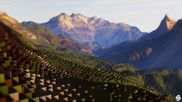 EMERALD CLIFFS - A grassy epic buildable terrain | [DOWNLOAD!] Minecraft