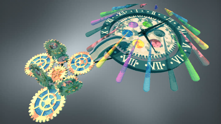 Clock with Gear Wheels Minecraft Project