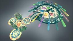 Clock with Gear Wheels Minecraft