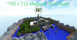 705 x 715 Medieval Town Minecraft Map & Project