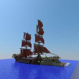 Pirate Ship 18th Century Style Minecraft Map & Project