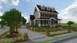 Traditional Georgian House | Behind the Picket Fence Minecraft