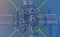 Theoretical 4 Way Intersection, No Traffic Lights, No Stopping Minecraft Project