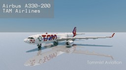 Airbus A330-200 TAM Airlines [New model][+Download] Minecraft Map & Project
