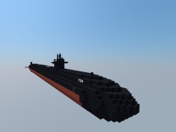 3:1 Scale USS Louisville, SSN 724 Minecraft Map & Project