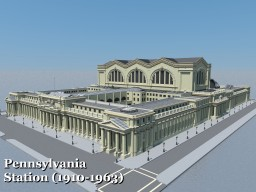 New York Penn Station (1910-1963) Minecraft Map & Project