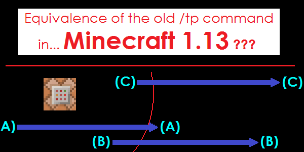 Advanced Tutorial A Possible Equivalence To The Old Tp Command In - Minecraft teleport player to entity
