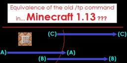 [Advanced Tutorial] A possible equivalence to the old /tp command in 1.13 Minecraft Blog