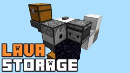 AUTOMATIC LAVA PICKUP AND STORAGE SYSTEM! Minecraft Blog Post