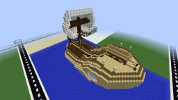 Epic Human Ship (My First Ship Build) Minecraft Map & Project