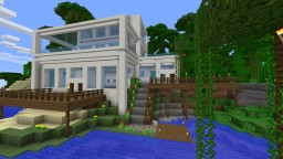 Tropical modern quartz house Minecraft Project