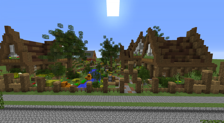 Minecraft fence Pretty Front View Planet Minecraft Medievalcottage Build For