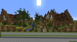 "Medieval/Cottage  Build For ""Behind the Picket Fence"" Minecraft Project"