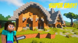 An Epic Medieval House Tutorial - How To Build A Small Medieval House! EASY Minecraft Project