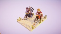 a motorcycle race - by Sciron Minecraft Map & Project
