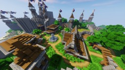 Small Medieval Town with Castle Minecraft Project