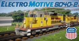 [1.5:1 Scale] EMD SD40-2 UP Union Pacific diesel electric locomotive Minecraft Project
