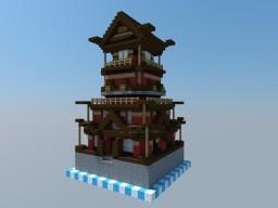 Japanese Castle - 1x1 Chunk Minecraft Project