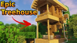 Minecraft - How To Build A Treehouse | Tutorial | Easy Minecraft Map & Project