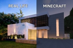 That Modern House We've All Seen on Google Images Minecraft Map & Project