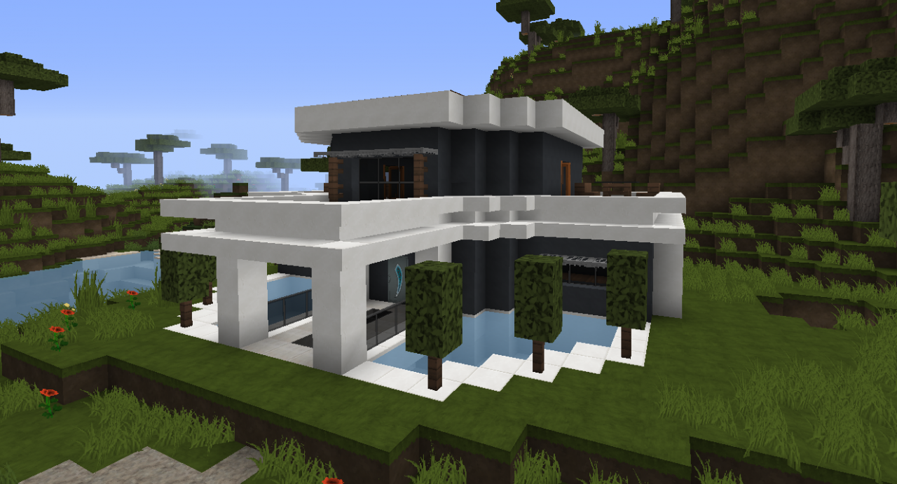 Futuristic House Futuristic House Minecraft Project