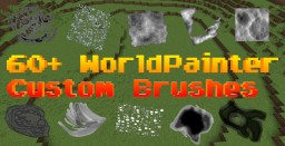 CrazyPack Custom Brush Pack For WorldPainter Includes Over 60 + Custom WorldPainter Brushes Minecraft Mod