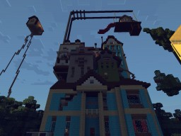 Hello Neighbor - Alpha 3 Concept Art House {NEW BASEMENT} Minecraft