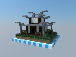 Small Japanese House - 1x1 Chunk Minecraft Project